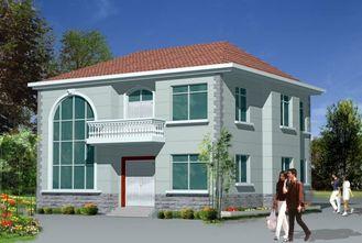 China Light  Steel Frame House / Prefabricated Houses For modern Villa supplier