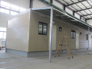 China Fully Decorated Finished Bunk prefabricated House / Yellow Contemporary Modular Homes supplier