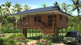 China Waterproof Home Beach Bungalows Wooden Look House Moistureproof supplier